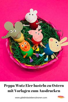 Make Peppa Wutz Easter eggs Peppa Wutz Ostereier basteln Are you still looking for a great DIY idea for Easter? We made cute Peppa Wutz eggs for Easter and created the templates for you. Tinker with children for Easter. Peppa Pig DIY for easter. Peppa Pig, Diy For Kids, Crafts For Kids, Summer Crafts, Fall Crafts, Making Easter Eggs, Ideias Diy, Easter Traditions, Easter Baskets
