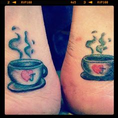 Coffee cup - matching sisters tattoo