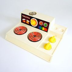 Fisher Price Toy Stove Top 1978 by AttysSproutVintage on Etsy, $19.00