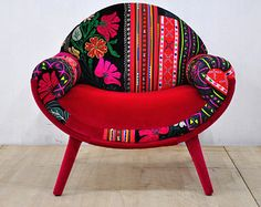 Patchwork chaise lounge Indian Kantha Quilt by namedesignstudio
