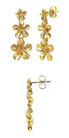 Glas & Kristall Ohrstecker Mit_goldenen Blumen_und NatÜrlichen_amber Hearts✅neu 2019✅ Antiquitäten & Kunst