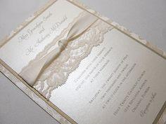 lace wedding invitations - Google Search