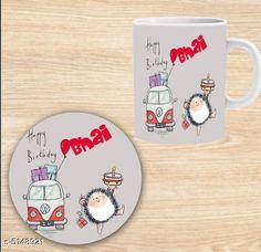 Accessories Elegant Printed Ceramic Coffee Mug   *Material* Mug - Ceramic, Coaster - MDF  *Capacity* Mug - 350 ml, Coaster - 9 cm  *Description* It Has 1 Piece Of Mug With 1 Piece Of Coaster  *Work* Printed  *Sizes Available* Free Size *   Catalog Rating: ★4.3 (1301)  Catalog Name: Beautiful Elegant Printed Ceramic Coffee Mugs With Coaster CatalogID_759969 C127-SC1621 Code: 581-5148921-