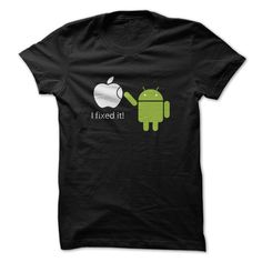 I fixed it android and apple phone logos T-Shirts, Hoodies. VIEW DETAIL ==► https://www.sunfrog.com/Funny/quotI-fixed-itquot-android-and-apple-phone-logos.html?id=41382