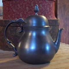 ASL Pewter Acorn Top Teapot