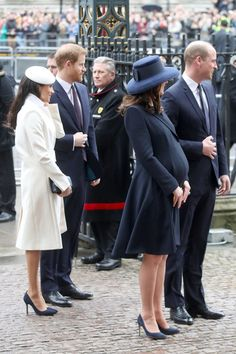 Kate Middleton Photos - (L-R) Meghan Markle, Prince Harry, Catherine, Duchess of Cambridge and Prince William, Duke of Cambridge attend the 2018 Commonwealth Day service at Westminster Abbey on March 12, 2018 in London, England. - Commonwealth Day Service & Reception