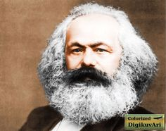 Karl Marx - portrait - colorized