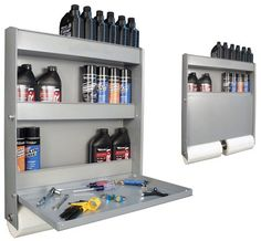 Garage Shelving with Folding Workstation