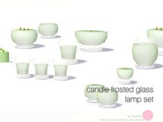 DOT's Candle Frosted Glass Lamp Set