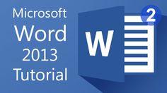 Microsoft Word 2013 - Tutorial for Beginners (2)