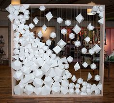 FRAME - white paper facets, a photo backdrop by Matthew Parker Events for Design*Sponge book party