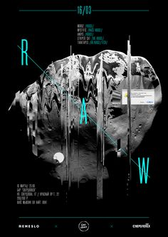 RAW party poster on Behance