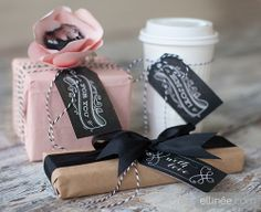 LOVE these tags...they look great on any little gift! #chalkboardtags