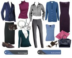 A mix of corporate and classic palette outfits for True Summer. Source True Colour FB.
