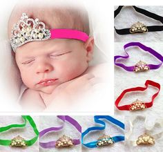 New arrival pearl crown headband style heaband baby girl  christmas gift  children  hair accessories 12ps/lot #Affiliate