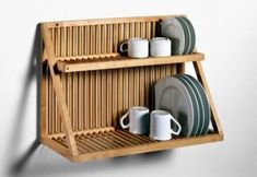 Check out the Traditional Wooden Plate Rack in Dish Racks, Kitchenware from Nutscene Ltd. Wooden Plate Rack, Plate Rack Wall, Wooden Plates, Plates On Wall, Wooden Dish Rack, Diy Plate Rack, Wall Mounted Dish Rack, Wood Rack, Plate Holder