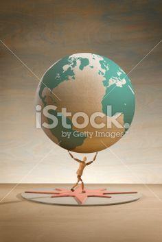 Lifting the world Royalty Free Stock Photo