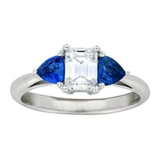 Three Stone Diamond and Sapphire Ring from Brilliant Earth