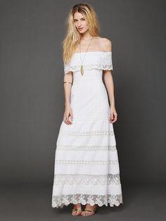 Free People Looks Like An Angel Maxi Dress, $352.00 Pretty Dress for a hippy wedding