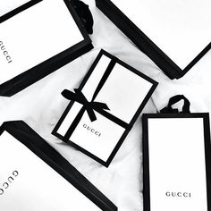 black, gucci, and packaging image