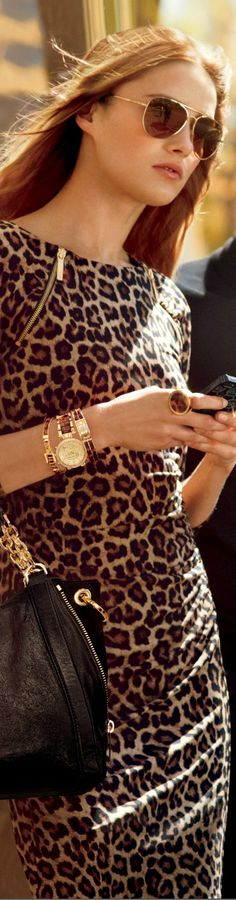 Karmen Pedaru for Michael Kors...looks like animal print is going to be on trend...