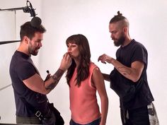 Lea Michele getting ready for her latest photo shoot
