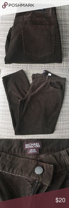 Michael Kors Corduroy Pants 36/30, Brown, Cords, New, Never Worn KORS Michael Kors Pants Corduroy