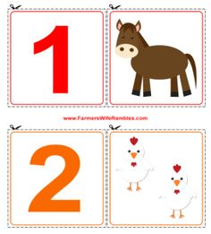 Set of 0-9 Free Printable Counting Cutouts - Finally, one I like