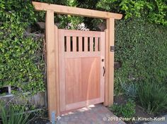 50 Classic Wooden Gates Will Make Your Home Look Great - The Urban Interior Wood Fence Gates, Wooden Garden Gate, Garden Gates And Fencing, Wooden Gates, Diy Fence, Garden Doors, Side Gates, Entrance Gates, Wooden Gate Designs