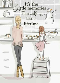 """""""it's the little memories that last a lifetime."""" - the Heather Stillufsen Collection from Rose Hill Designs on Etsy Rose Hill Designs, Family Wall Art, Mothers Love, Happy Mothers, My Baby Girl, Baby Born, My Children, Quotes Children, Child Quotes"""
