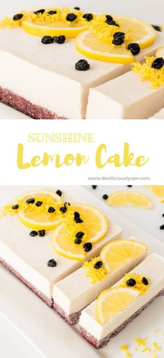 #raw #vegan Sunshine Lemon Cake from Deviliciously Raw
