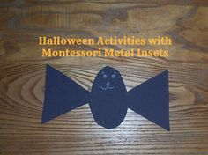Halloween Activities with Montessori Metal Insets {Confessions of a Montessori Mom}
