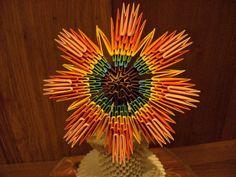 3D Origami Flowers Pattern | 3D ORIGAMI - Rainbow Flower - FULL tutorial - YouTube