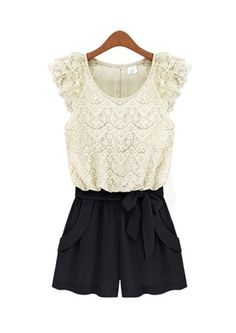 Contrast Lace Romper at $22.99
