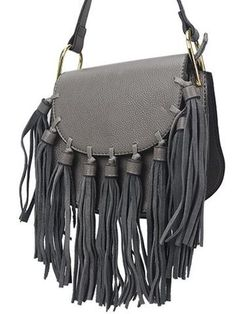 Horseshoe shaped fringed flap bag. Features 9 tassels. – Today Finds