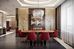 Awesome dining room design with contemporary theme.
