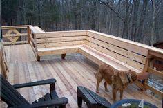 built in deck benches | Custom Decks | Aaron's Building & Remodeling LLC
