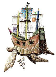 SEA TURTLE SHIP BY REDMER HOEKSTRA