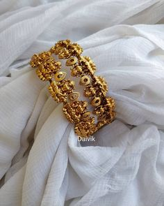 You Can Shop Pretty Gold Plated Bangle Designs Here Gold Bangles Design, Gold Earrings Designs, Gold Jewellery Design, Necklace Designs, Fancy Jewellery, Gold Pendants For Men, Gold Temple Jewellery, Gold Jewelry, Antique Jewellery Designs