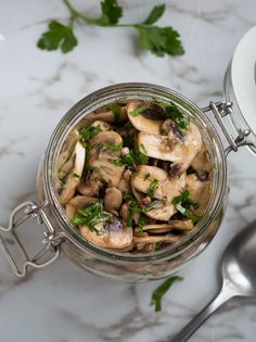Garlic and Parlsey Marinated Mushrooms