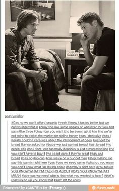 Read story Destiel Fluff by Stucky_Trash (Ashlyn) with reads. This is my very first Destiel story, so if it's bad, sorry. Supernatural Ships, Bae, Funny Pictures Can't Stop Laughing, Castiel, Superwholock, Super Funny, Love Story, I Laughed, Fangirl