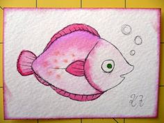Oops, I Craft My Pants Watercolor Fish, Watercolor Ideas, Project Site, Cute Fish, Fish Drawings, Pet Rocks, Ocean Life, Rock Painting, Rivers