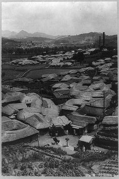 [Thatched roof houses, Korea]