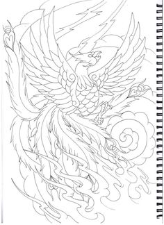traditional japanese phoenix drawing - Google Search ...