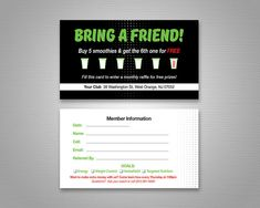 Herbalife Nutrition Club Rewards Program Card by Prelinx on Etsy