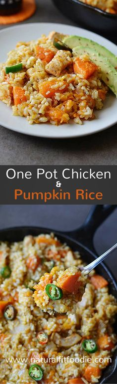 Calling all pumpkin lovers, this One Pot Chicken and Pumpkin Rice is for you! Delicious, hearty and ready in a flash not to mention it's all made in one pot!