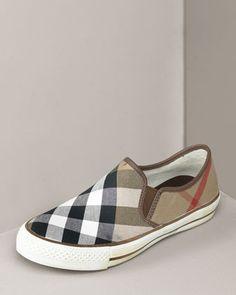 Burberry Check Slip-On Sneaker