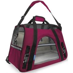 OxGord Soft Sided CatDog Pet Carrier 2015 Design SmallHot Pink PTCR01LGBK >>> Read more reviews of the product by visiting the link on the image.