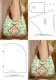 Denim bag and synthetic details. Super beautiful, can … – All Bag Models Bag Sewing Pattern, Bag Patterns To Sew, Sewing Patterns, Purse Patterns Free, Handmade Handbags, Handmade Bags, Handbag Patterns, Patchwork Bags, Fabric Bags