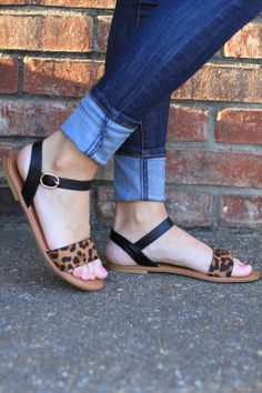 Cute leopard sandals! I especially love that there isn't one strap circling the entire ankle in a straight line, because that only makes my short legs look shorter if it isn't nude in color. https://www.stitchfix.com/referral/8048730